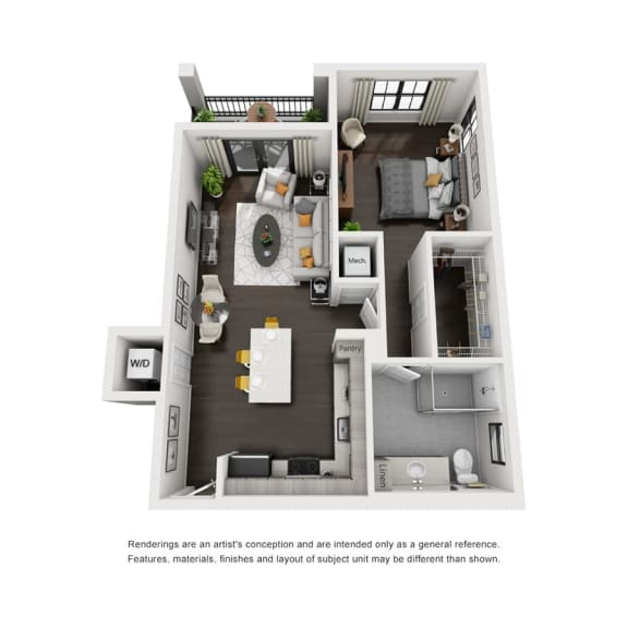 Addison Place A3 Floor Plan