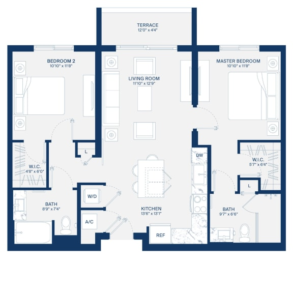 Uptown Boca Floor Plan B1
