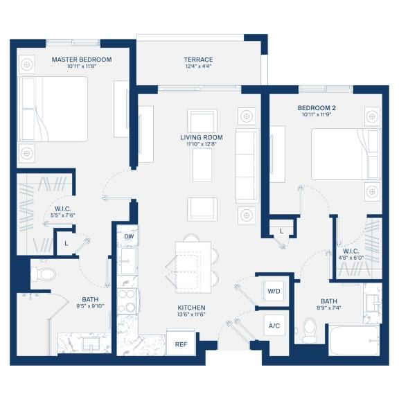 Uptown Boca Floor Plan B2