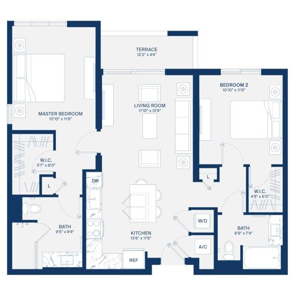 Uptown Boca Floor Plan B2.1