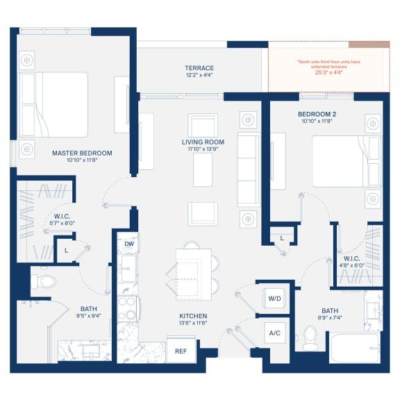 Uptown Boca Floor Plan B2.2