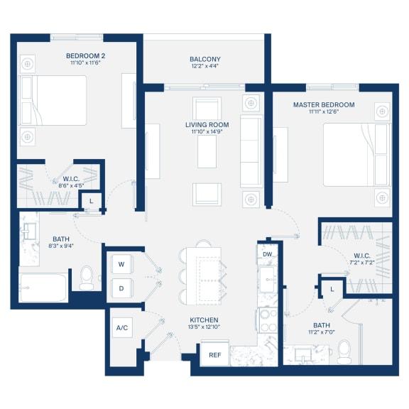Uptown Boca Floor Plan B3