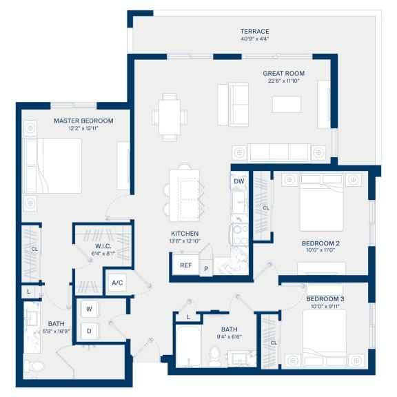 Uptown Boca Floor Plan C1