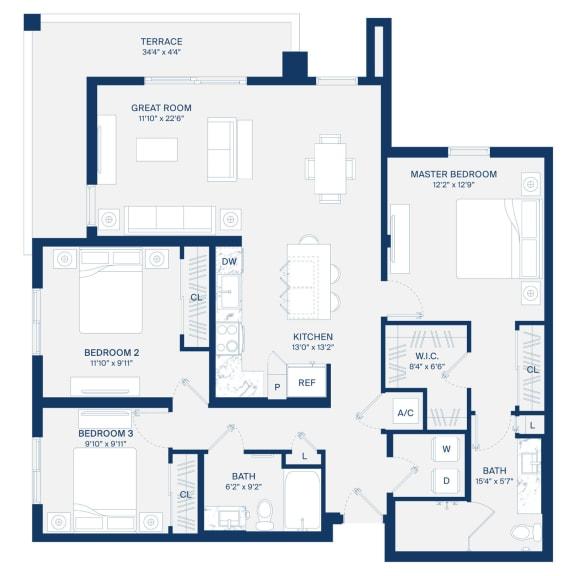 Uptown Boca Floor Plan C1.1