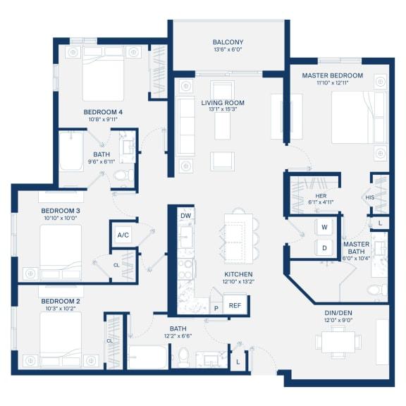 Uptown Boca Floor Plan D1