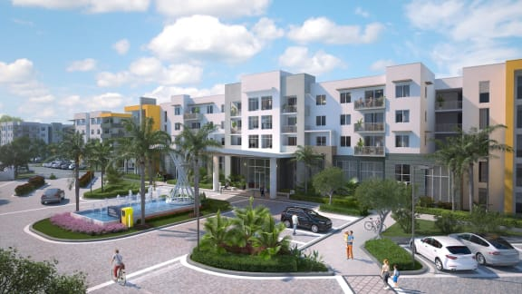 Entrance Rendering for Uptown Boca