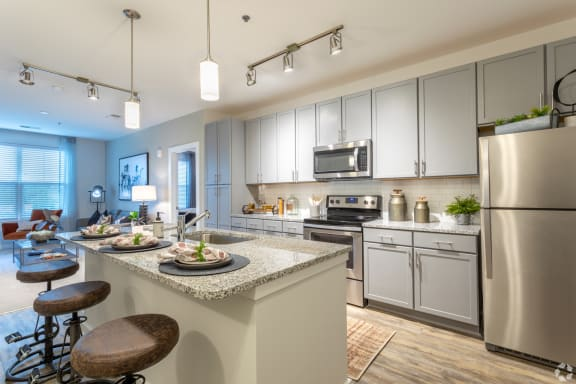 Modern Kitchen with Stainless  Steel Appliances, at NorthPointe, Greenville, 29601