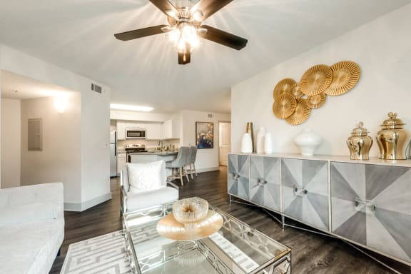 Bahia Cove Apartments Model Living Room