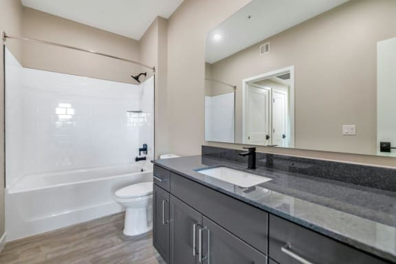 Bathroom with Modern Fixtures at The Premiere at Eastmark Apartments, Mesa, Arizona