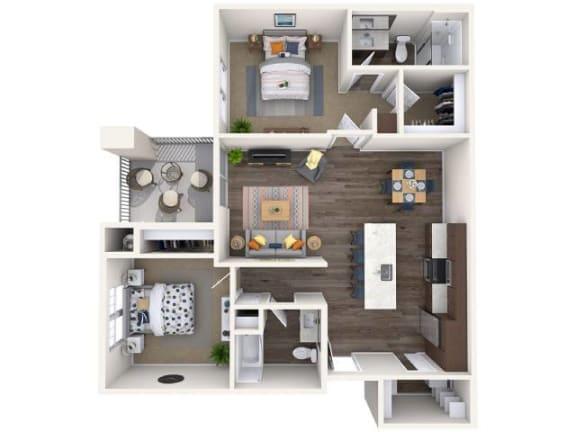 Floor Plan  B1 Floor Plan at Copper Falls, Glendale, AZ, 85305