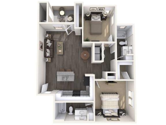 B1 951 SqFt Floor Plan at The Premiere at Eastmark Apartments, Mesa, AZ