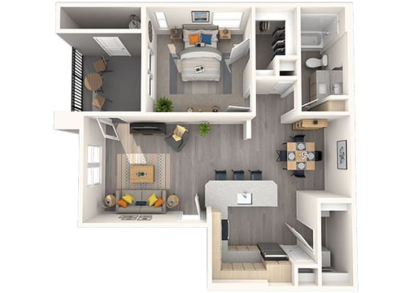 A-1 Floor Plan at Grayson Place Apartments, Goodyear, AZ