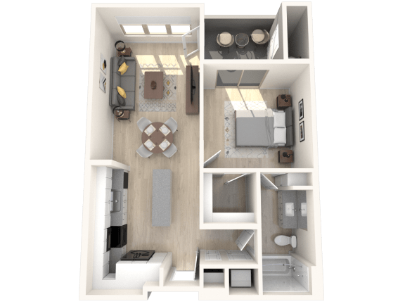 ROOSEVELT Floor Plan at The Premiere at Eastmark Apartments, Arizona