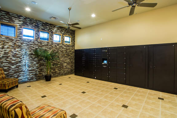 Secure Package Receiving Lockers at Safe Apartments to rent in Las Vegas NV