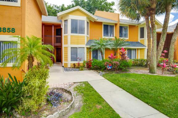 Walkway at The Villages of Banyan Grove Apartments in Boynton Beach FL