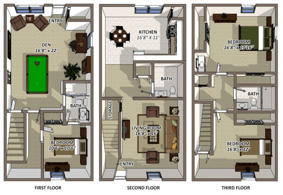 The Hamilton 3Bed 2.5Bath at Hyde Park Townhomes, Chester, Virginia