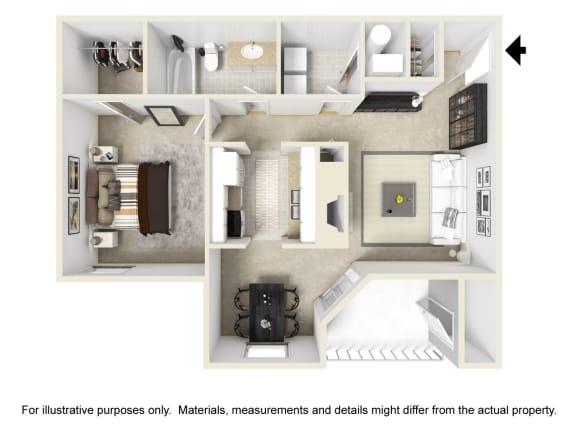 The Calumet Floor Plan at Chinoe Creek Apartments in Lexington