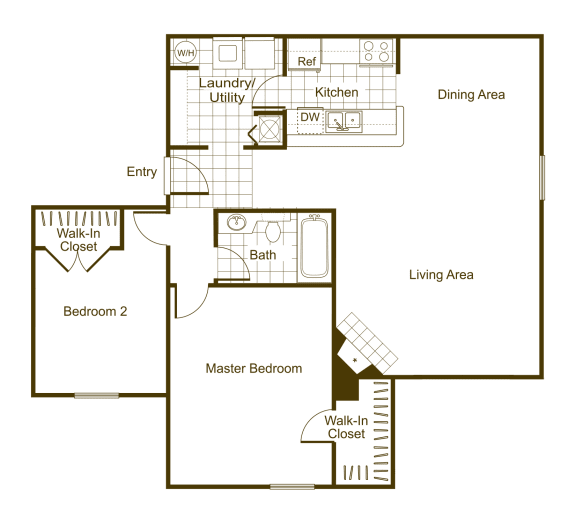 Hickory 2Bed_1Bath at The Timbers, Richmond