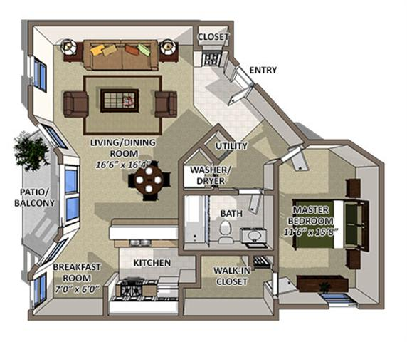 Abaco floor plan at The Villages of Banyan Grove Apartments in Boynton Beach