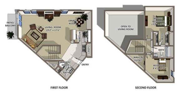 Bermuda floor plan at The Villages of Banyan Grove Apartments in Boynton Beach
