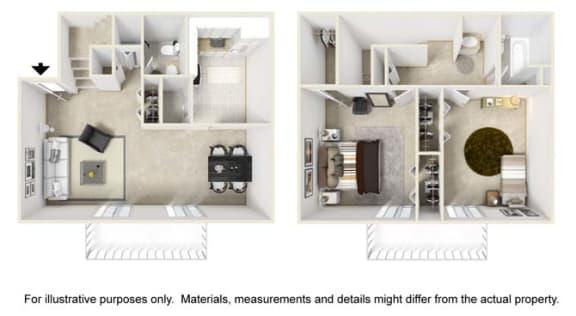 Windhaven Floor Plan at Tates Creek Village Apartments in Lexington KY