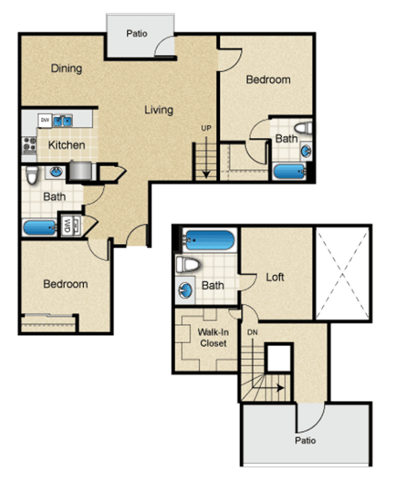 Floor Plan  unfurnished-three-bedroom-luxury-west-la-apartment