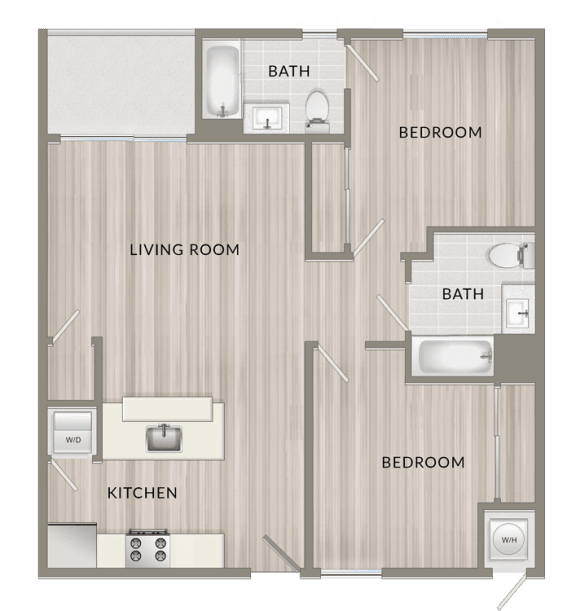 Floor Plan  Unfurnished Two Bedroom G