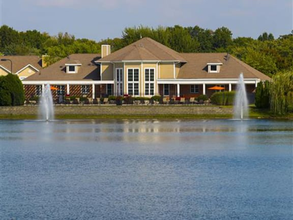 Clubhouse and Pool Overlook Lake