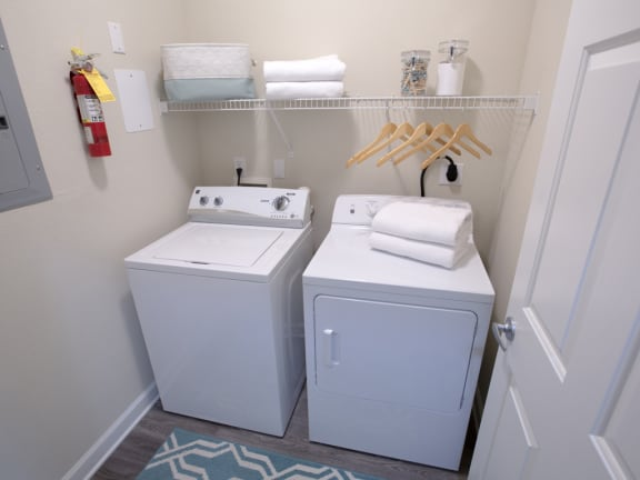 Laundry with Washer and Dryer Included