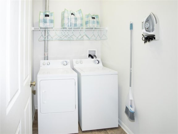 HUGE Laundry Room, washer and dryer in unit at Estancia Apartments in Tulsa for rent