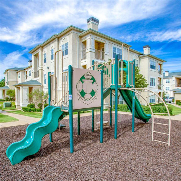 Playground, Estancia Apartments For Rent Tulsa OK - 1, 2 , and 3 Bedroom Units Available