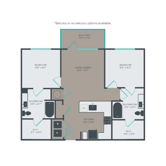 B1 Floor Plan at Link Apartments® Linden, North Carolina, 27517