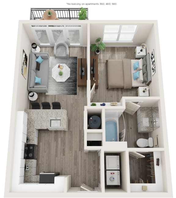 A3 Floor Plan at Link Apartments® Linden, Chapel Hill, North Carolina