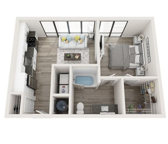 S2_A Floor Plan at Link Apartments® Montford, Charlotte, 28209