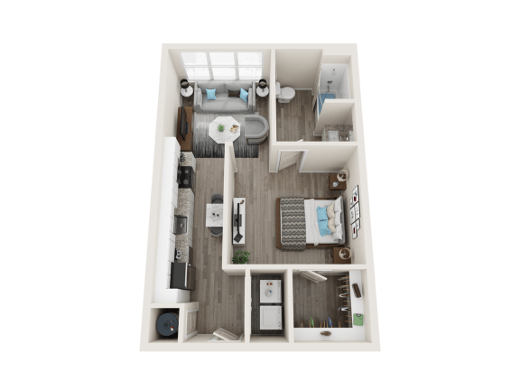 A1_A Floor Plan at Link Apartments® Linden, Chapel Hill, NC