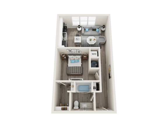 A2 Floor Plan at Link Apartments® Linden, Chapel Hill, 27517