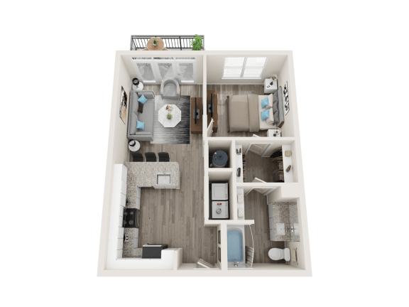 A3_A Floor Plan at Link Apartments® Linden, Chapel Hill