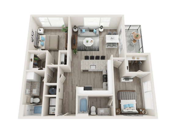 B2 Floor Plan at Link Apartments® Linden, North Carolina