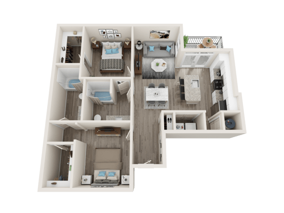 B3 Floor Plan at Link Apartments® Linden, North Carolina, 27517
