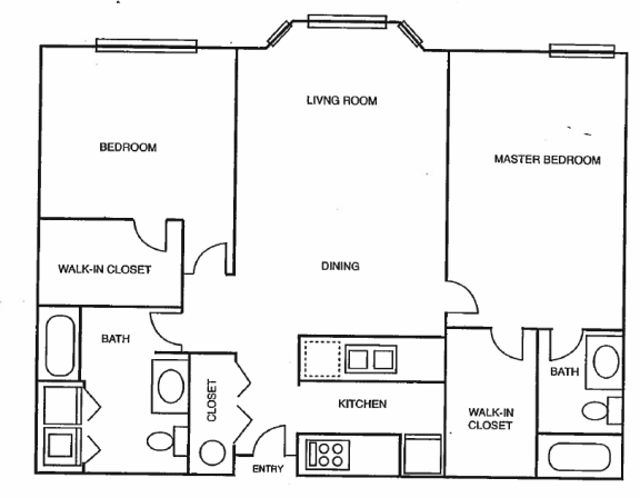 floor plan 1055 axcess 15 apartments Logo at axcess 15 apartments in Portland oregon