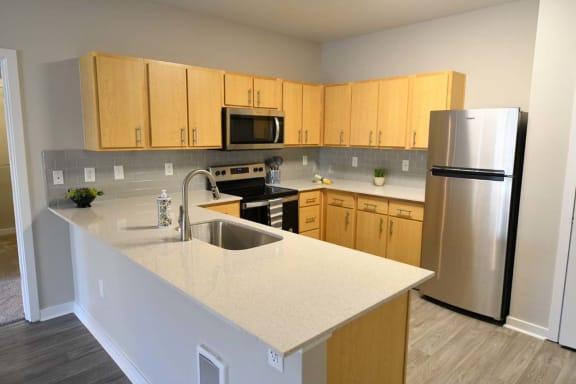 Granite Countertop Kitchen at Domaine at Villebois , Oregon