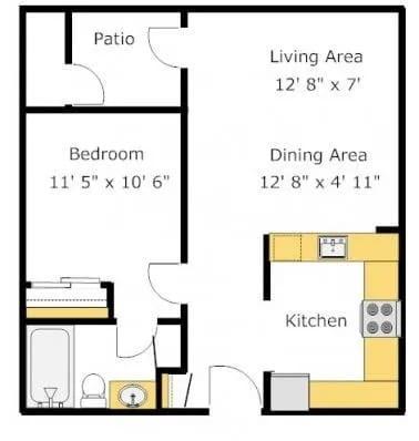 A1 floor plan image
