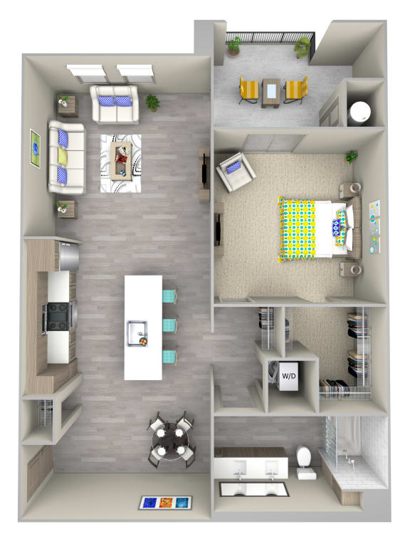 Floor Plan  shore a2.1 Floor Plan at Las Positas Apartments, Camarillo, CA, 93010