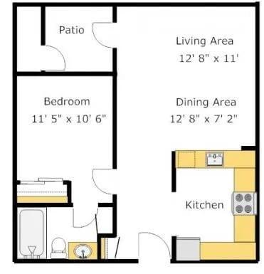A2 floor plan image