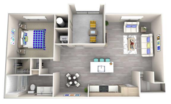 sand a3.1 Floor Plan at Las Positas Apartments, Camarillo, CA