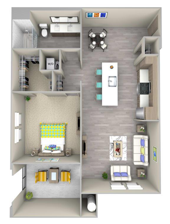 sandbar a4.1 Floor Plan at Las Positas Apartments, Camarillo, 93010