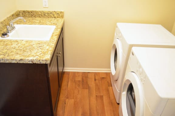 In-home washer and dryer, at Union Place Apartments, 1500 Cherry St. Suite 5106A