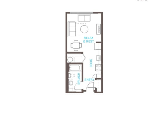 Floor Plan  S1 floor plan at Vue 22 Apartments