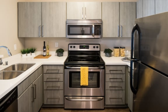 Stainless Steel Appliances at Pine at 6th, Long Beach, California