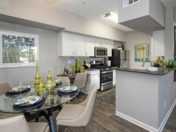 Dining Room and Kitchen View at Marina Village Apartments, Sparks, NV, 89434